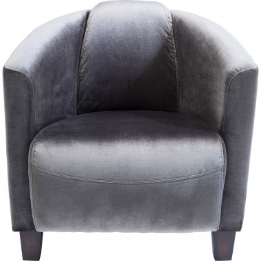 Fauteuil Cigar Lounge velours gris Kare Design