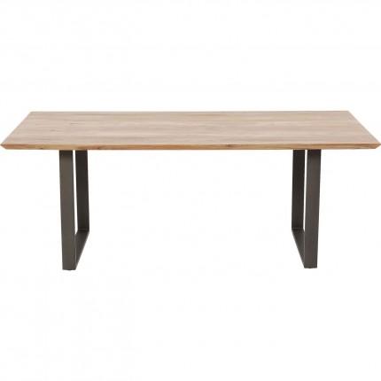 Table Symphony acacia acier 180x90cm Kare Design