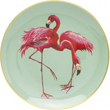 Plat flamants roses duo 27cm Kare Design