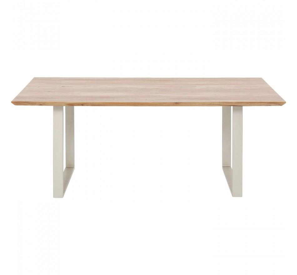 Table Symphony acacia argent 200x100cm Kare Design