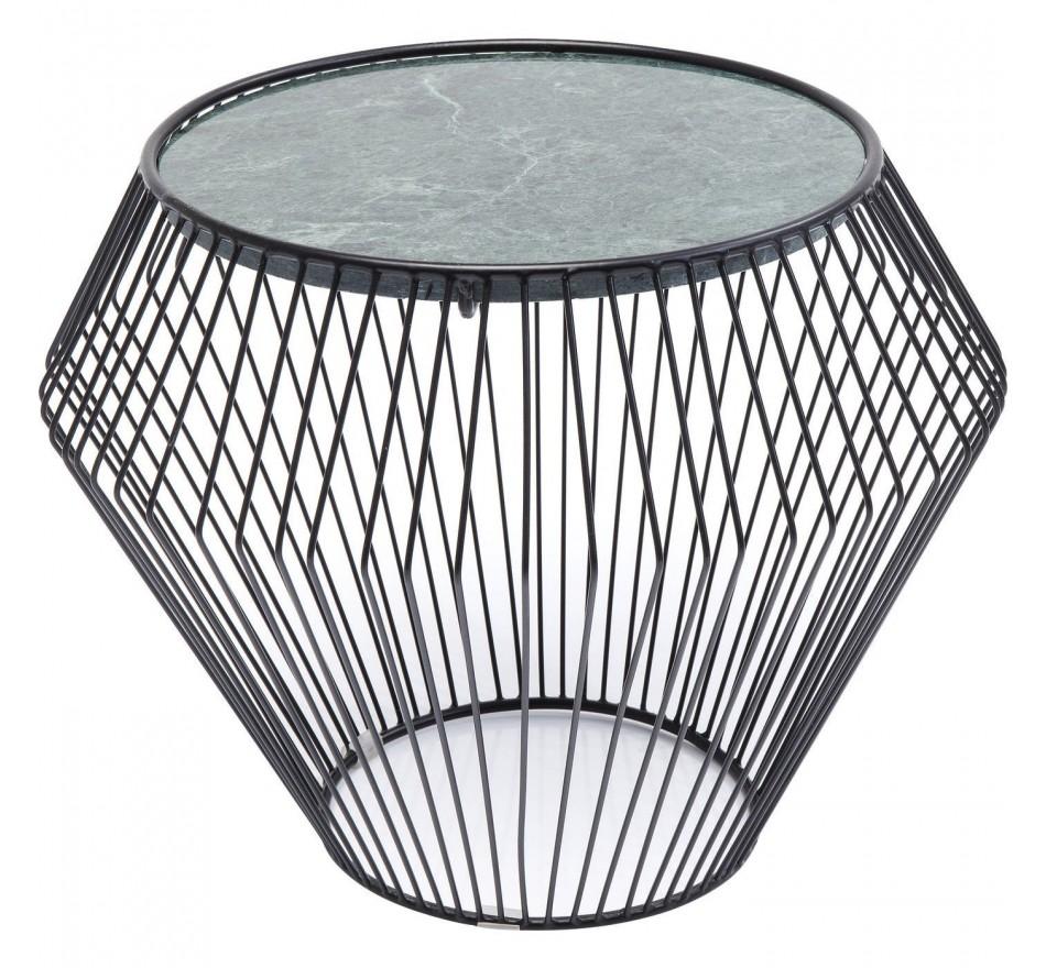 Table d'appoint Beam noire marbre vert 40cm Kare Design