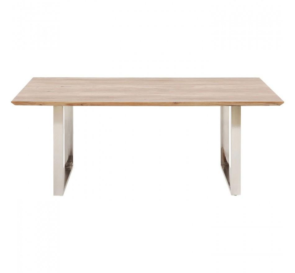 Table Symphony acacia chrome 200x100cm Kare Design