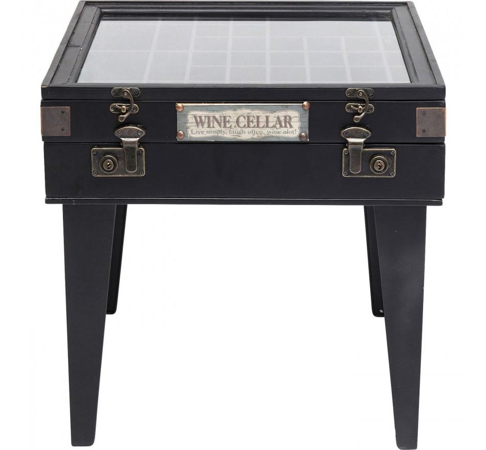 Table d'appoint Collector noire 55x55cm Kare Design