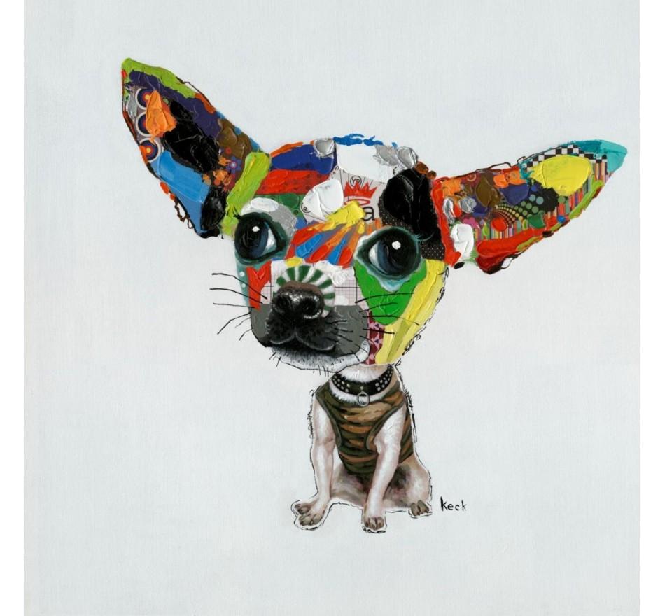 Tableau Chihuahua 50x50 Kare Design