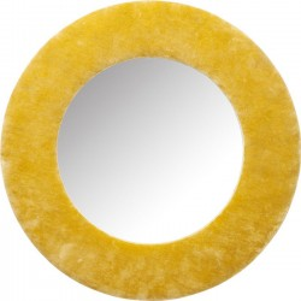 Miroir Cherry jaune 80cm Kare Design
