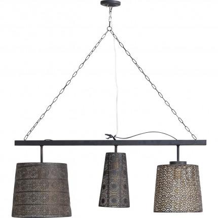 Suspension Sultan noire mat 3 Kare Design