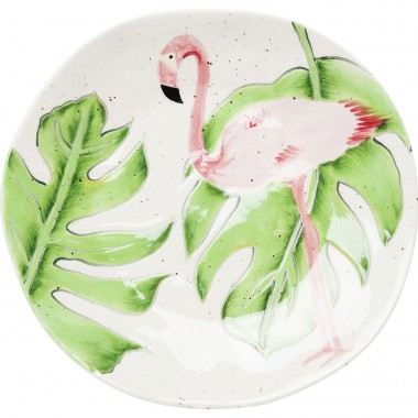Assiettes Tropical flamants roses 21cm set de 2 Kare Design