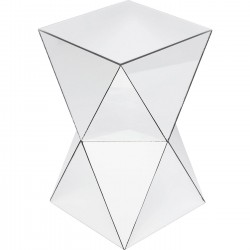 Table d'appoint Luxury Triangle argent Kare Design