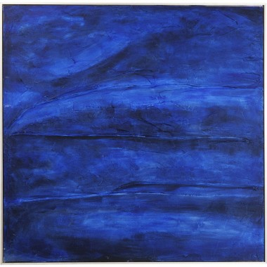 Peinture à l'huile Abstract Deep bleue 80x80cm Kare Design