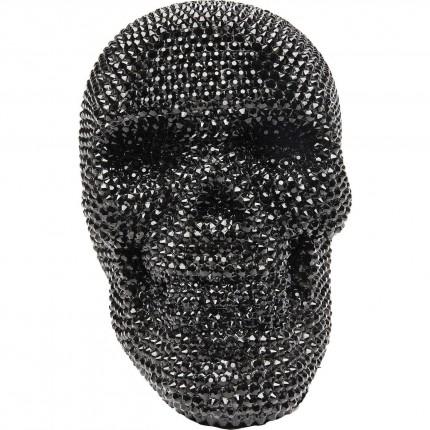 Déco Crâne strass noir 14cm Kare Design