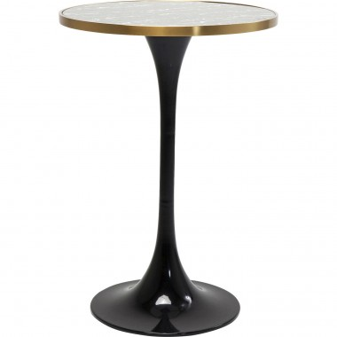 Table de bar San Remo noire ronde 70cm Kare Design