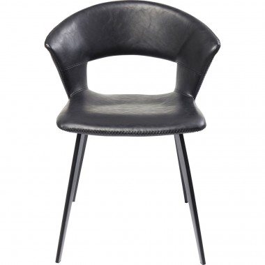 Chaise Reunion noire Kare Design