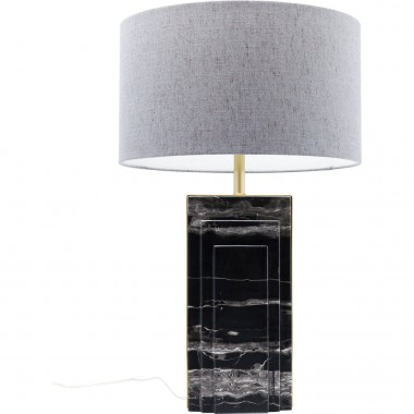 Lampe de table Charleston marbre noir 69 cm Kare Design
