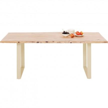 Table Harmony acacia laiton 180x90cm Kare Design