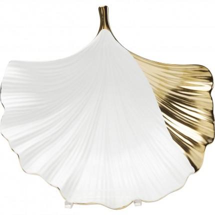 Coupe feuille de ginkgo côté doré Kare Design