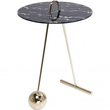 Table d'appoint Touch Duo noire 46cm Kare Design