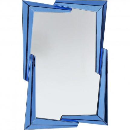 Miroir Boomerang bleu 122x82cm Kare Design