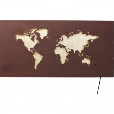 Applique carte du monde LED Kare Design