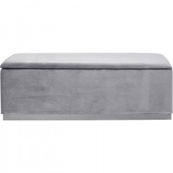 Banc-coffre Cherry gris et chrome 120x40cm Kare Design