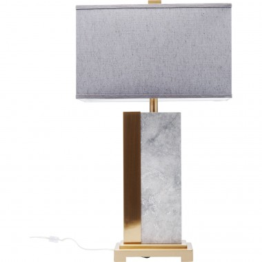 Lampe de table Charleston marbre gris 80cm Kare Design