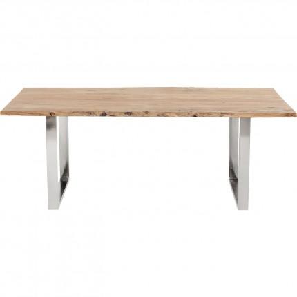 Table Harmony acacia chrome 200x100cm Kare Design