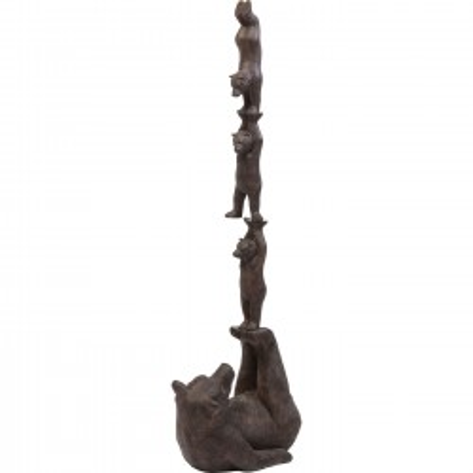 Déco ours en équilibre 121cm Kare Design