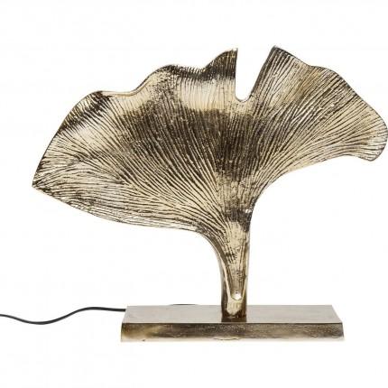 Lampe de table feuille de ginkgo dorée Kare Design