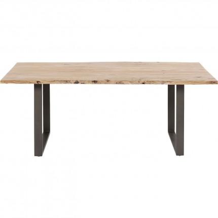 Table Harmony acacia acier 200x100cm Kare Design
