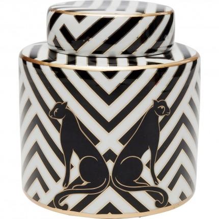 Boîte Panthères noires 16cm Kare Design
