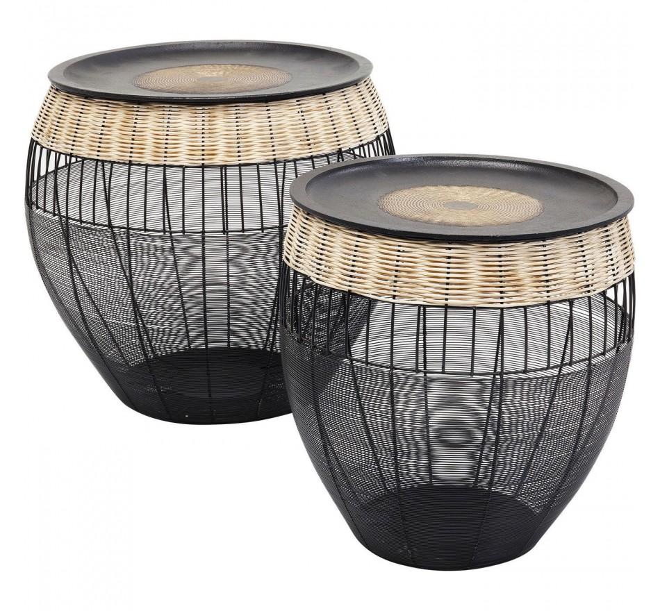 Tables d'appoint African Drums set de 2 Kare Design