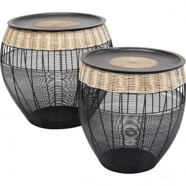 Tables d'appoint African Drums set de 2 Kare Design