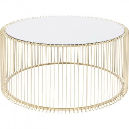 Table basse Wire laiton 80cm Kare Design