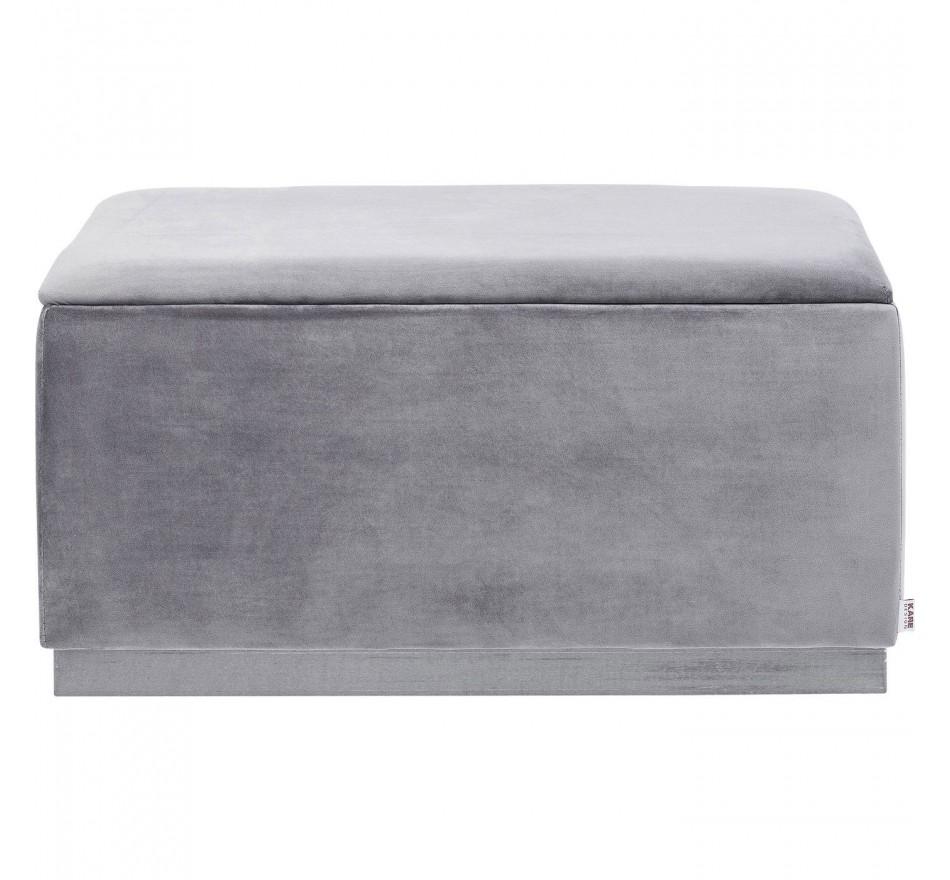Banc-coffre Cherry gris et chrome 80x40cm Kare Design