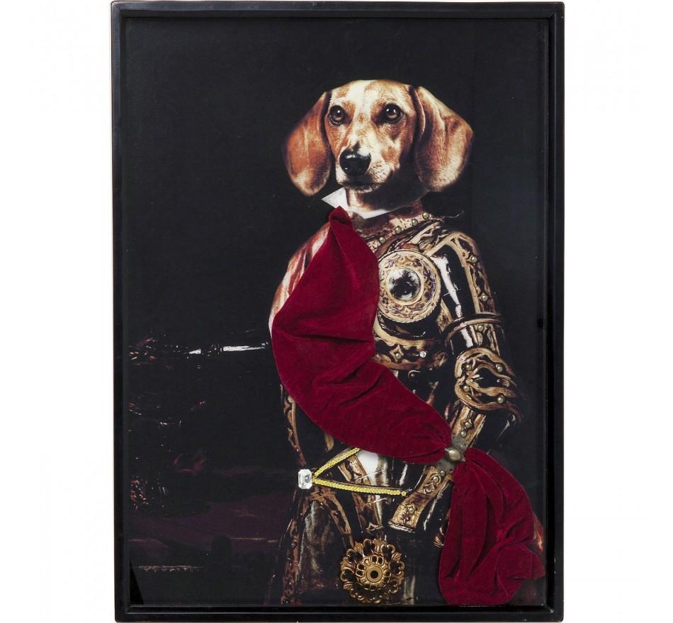 Tableau Frame Sir Dog 80x60cm Kare Design