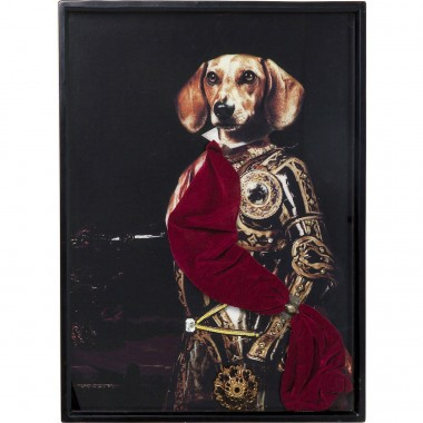 Tableau Frame Sir Dog 80x60cm Kare Design