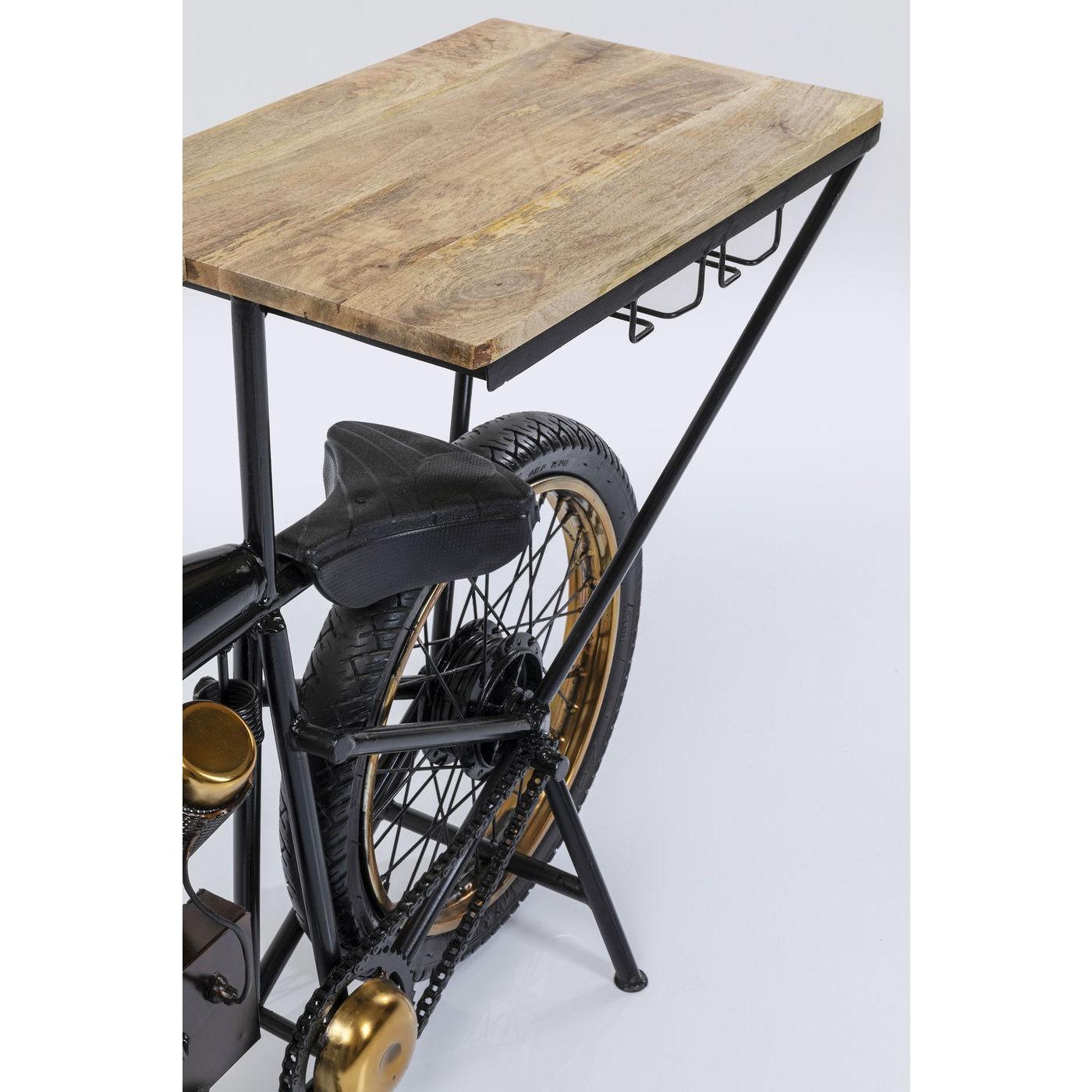 Table de bar Moto noire 180x43cm Kare Design