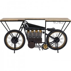 Table de bar Moto noire 180x43cm Kare Design