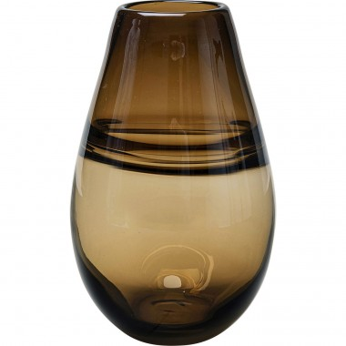 Vase Dallas Belly marron 21cm Kare Design