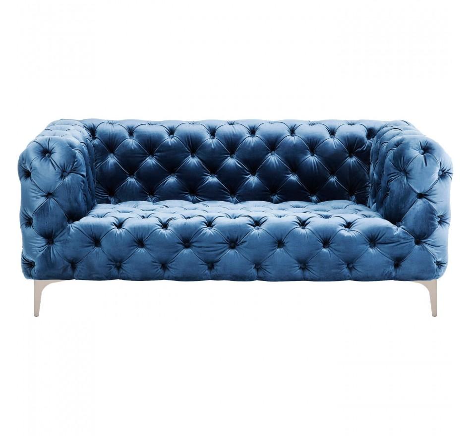 Canapé Look Royal velours bleu pétrole Kare Design