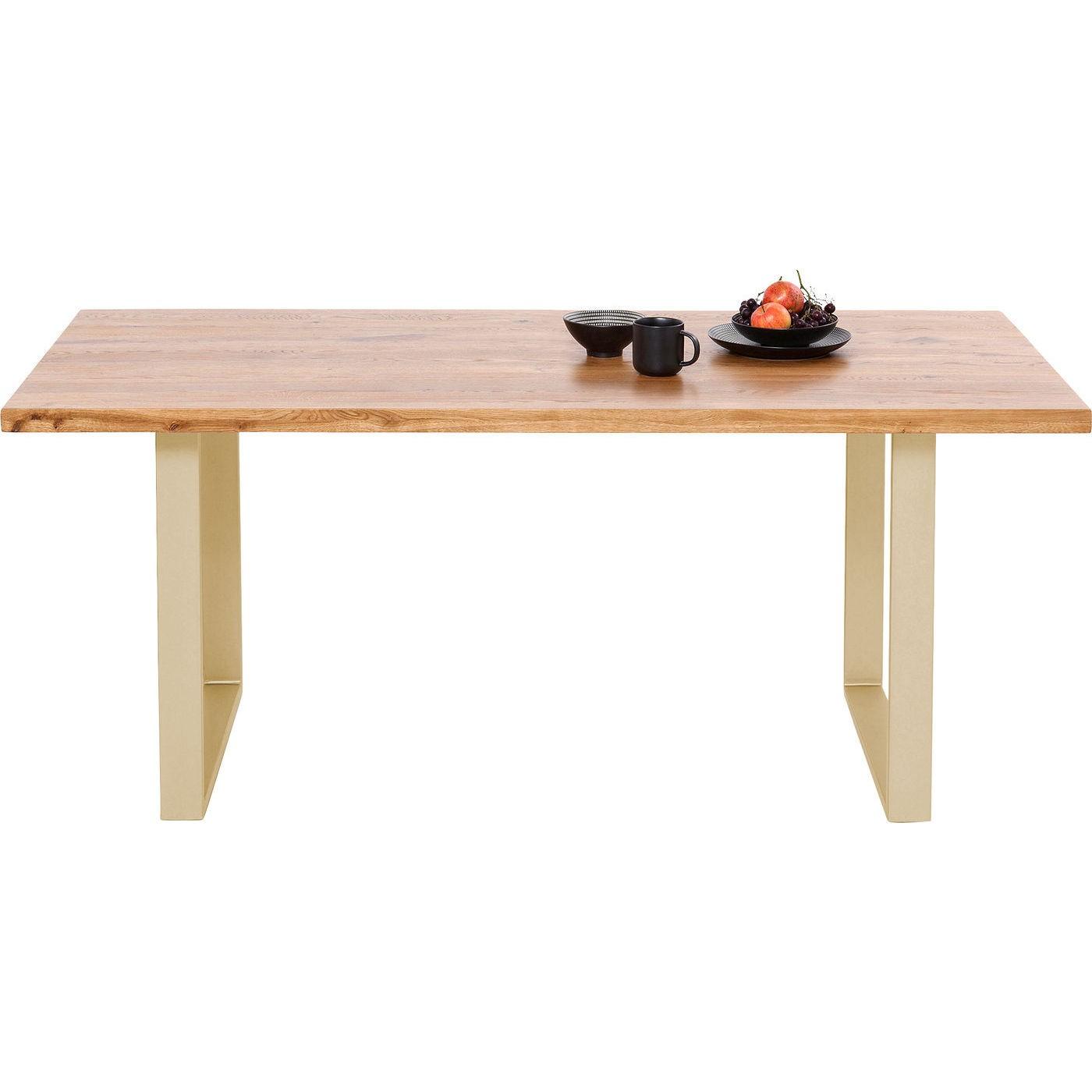 Table Jackie chêne laiton 180x90cm Kare Design