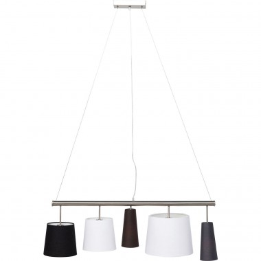 Suspension Parecchi noire 100cm argent Kare Design