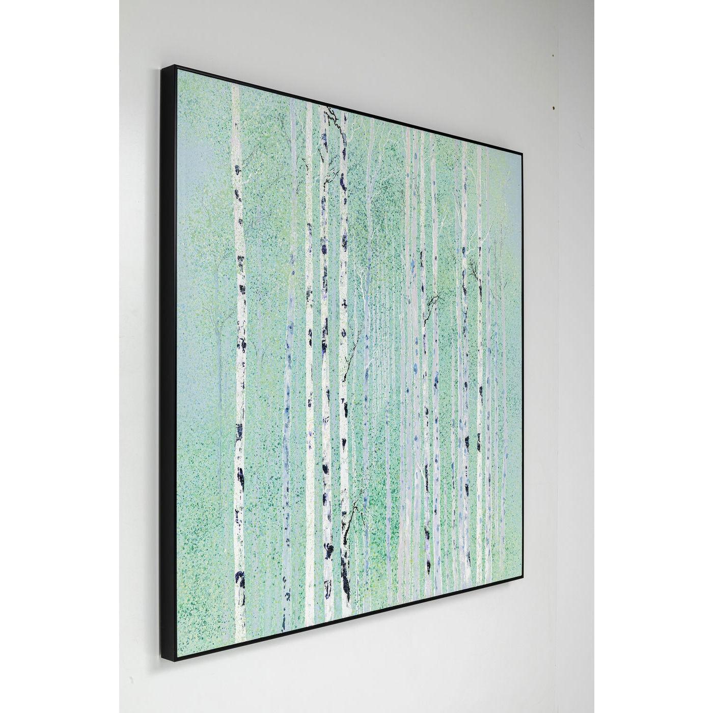 Peinture à l'huile Frame Birch Avenue 140x140cm Kare Design