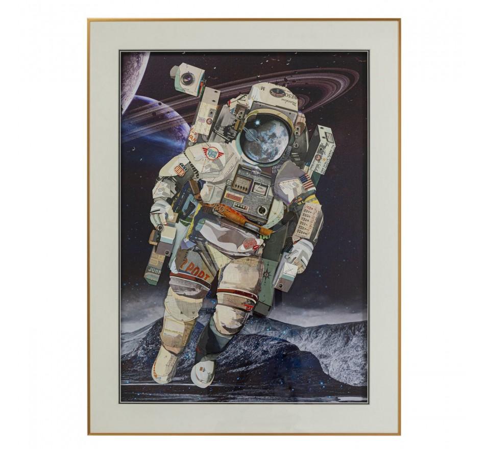 Tableau Frame Art Astronaute 100x75cm Kare Design