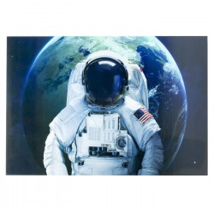 Tableau en verre Astronaute américain 180x120cm Kare Design