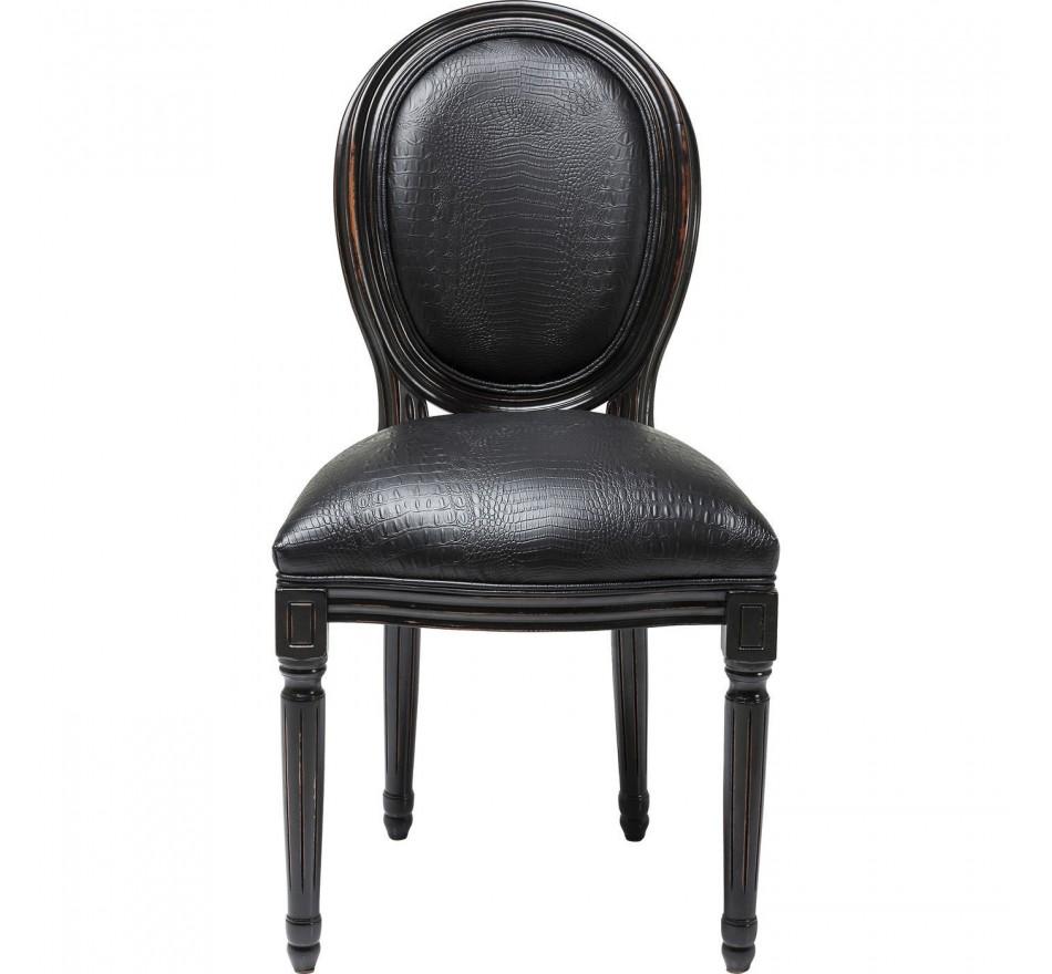 Chaise Louis Croco noire Kare Design