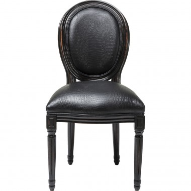 Chaise Louis Croco noire Kare Design