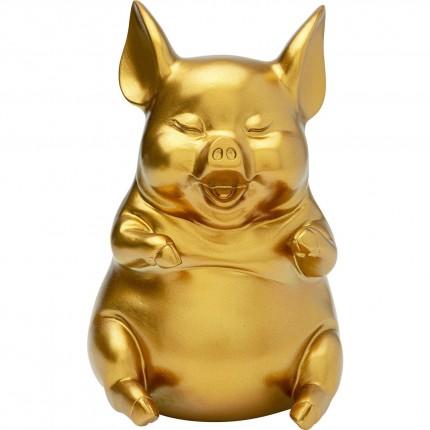 Tirelire Pig Sitting dorée Kare Design