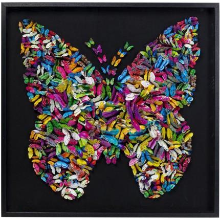 Tableau 3D Papillons 120x120cm Kare Design