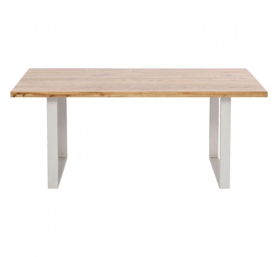 Table Jackie chêne argent 160x80cm Kare Design