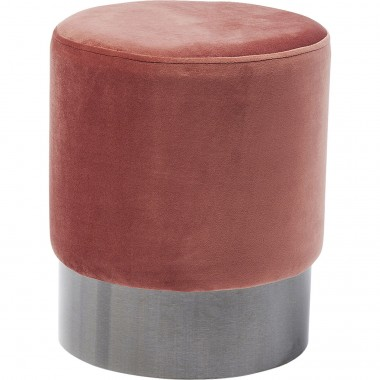 Tabouret James 35cm rose et noir Kare Design